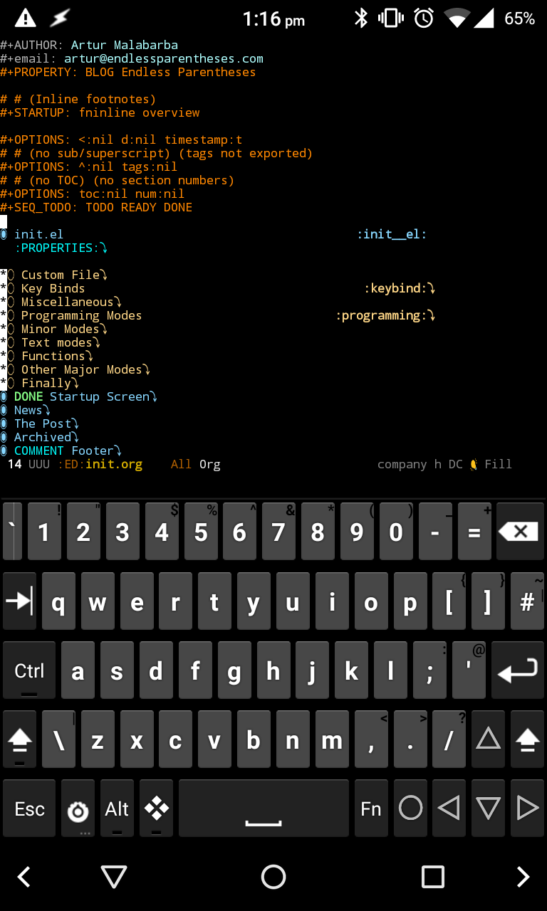Running Emacs on Android · Endless Parentheses